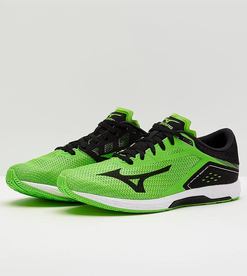 Mizuno Scarpe Corsa Running Shoes Sneakers Trainers Wave Sonic Uomo Verde Scarpe classiche da uomo