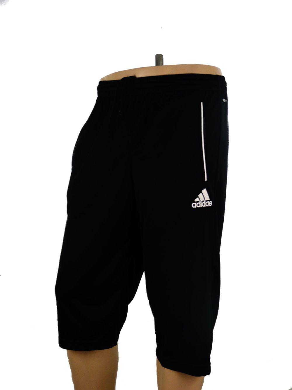 core 11 adidas pantaloncini shorts hose 3 4 pants men black with pockets ebay. Black Bedroom Furniture Sets. Home Design Ideas