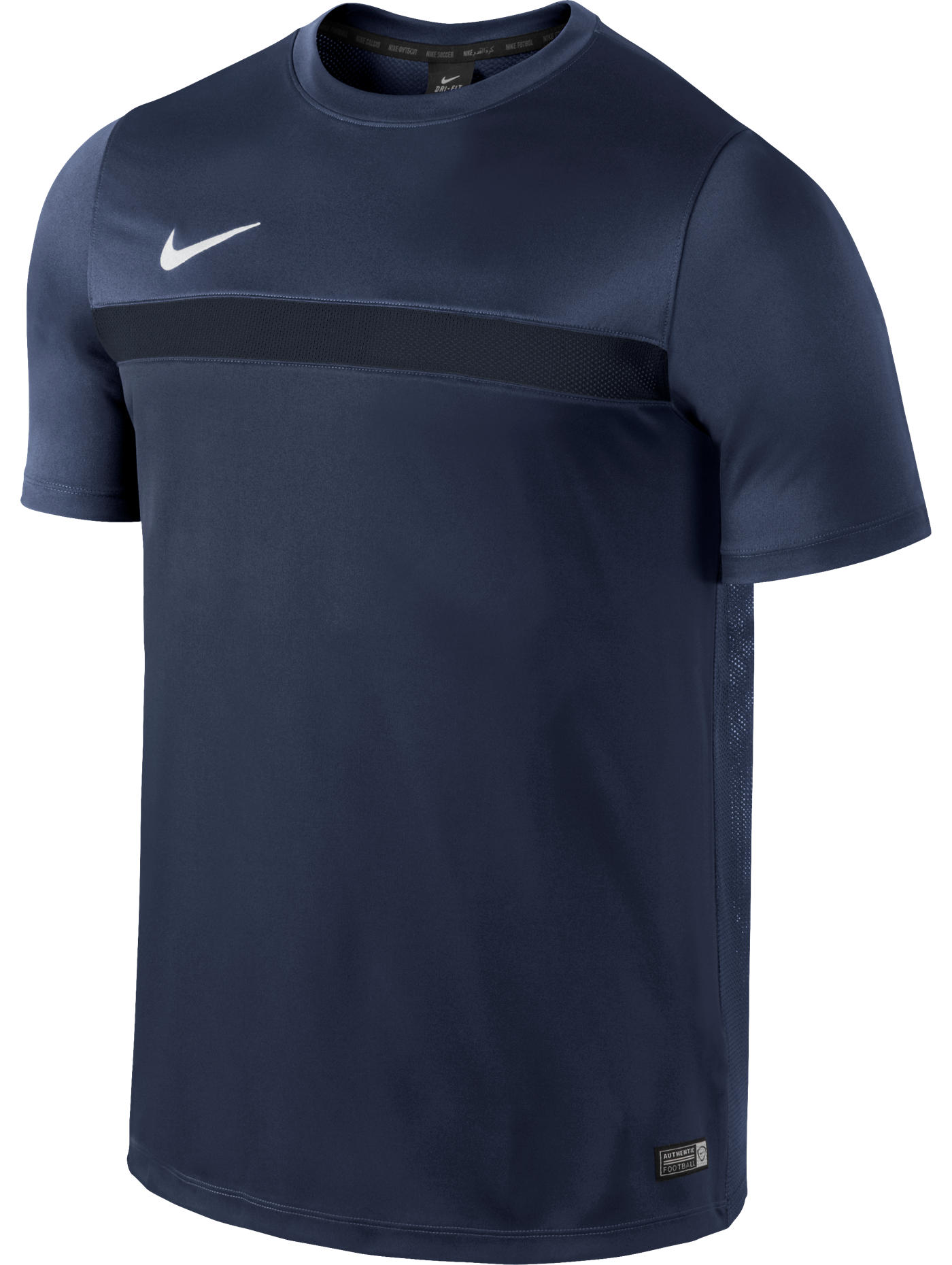 Academy ss top blue navy nike training shirt maglia 2015 for Navy blue and white nike shirt