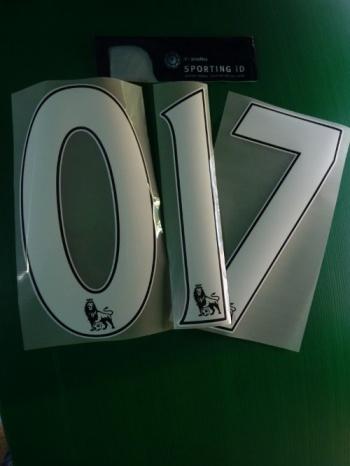 Squadre Premier League Numero a scelta x maglia calcio PS PRO 2013 15 Bianco