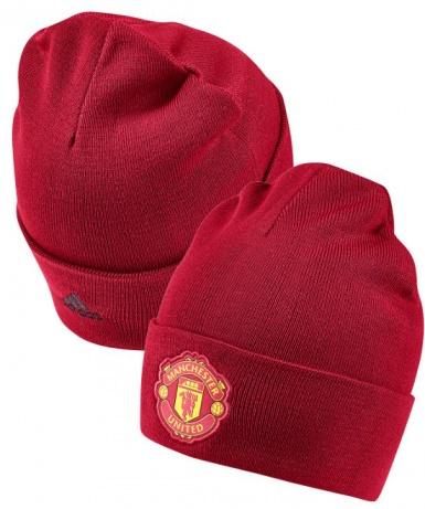 ... Cappello di lana Manchester United invernale Adidas 3S WOOLIE Rosso  2018 19 Originale Unisex - Manchester e1edca86b4cc