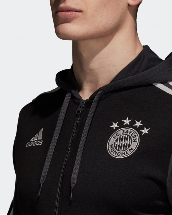 Détails sur Bayern Munchen Adidas Veste Sweatshirt sport Jacket 2018 19 Hoodie 3S Fz Gris