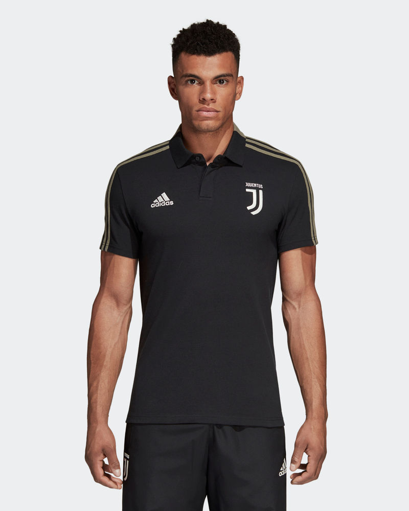 c9ecd3370e6426 FC Juventus Adidas Polo Shirt Cotone Black 2018 19 Cotton Climalite ...