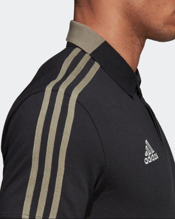 8f1ba16e1e5d79 Polo Maglia JUVENTUS Adidas Cotone 2018 19 maniche corte uomo Climalite  Nero - Polo Shirt JUVENTUS ...