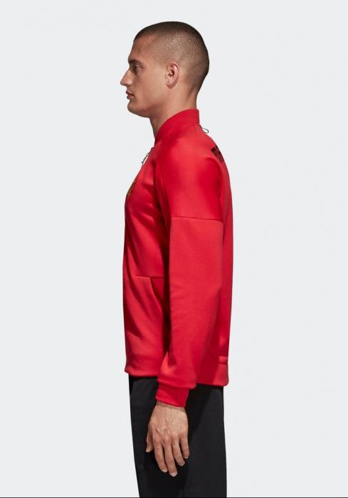 Détails sur Manchester United Adidas Veste Pre match Jacket Rouge Anthem Zone 2018 19