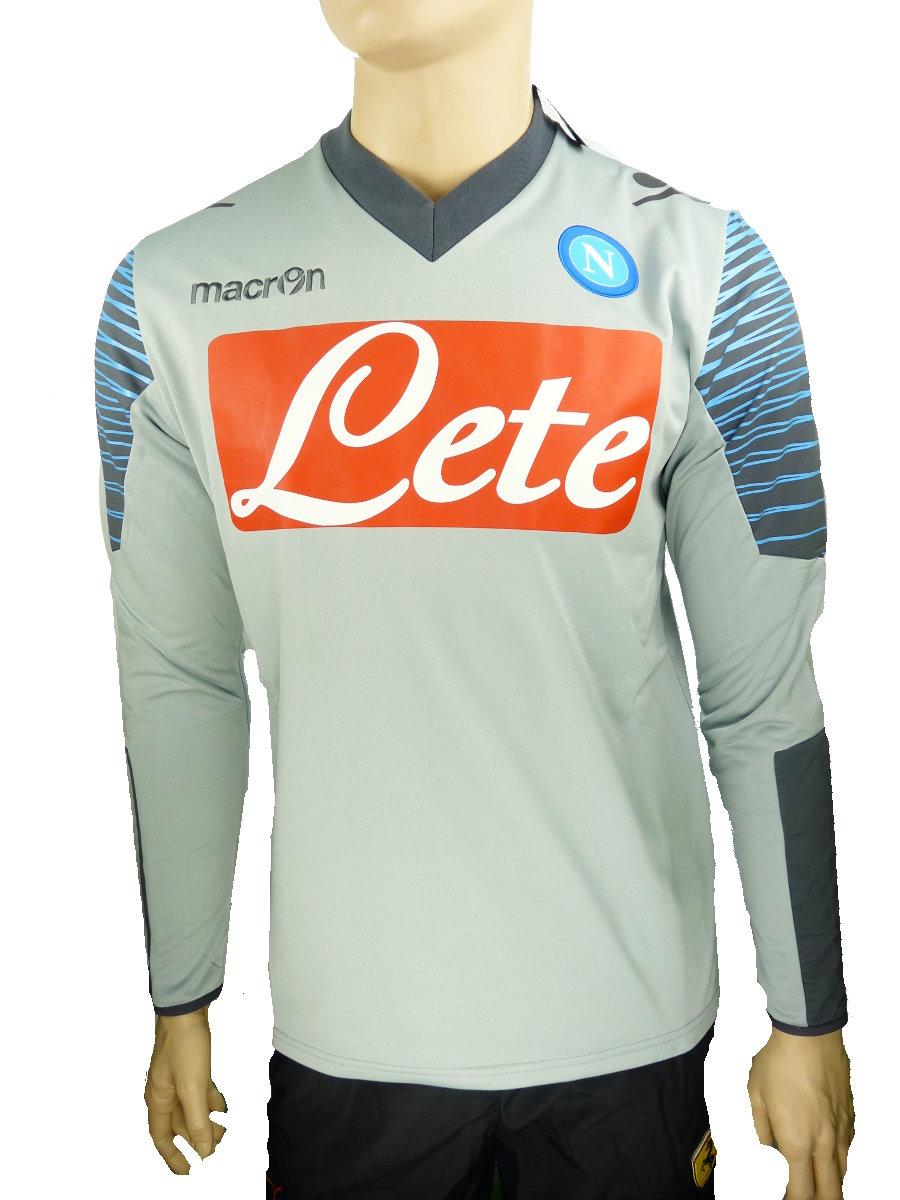 SSC Napoli Macron Felpa Allenamento Training Top Sweatshirt 2014 15 Grigio  Uomo 0d01f888d5d2