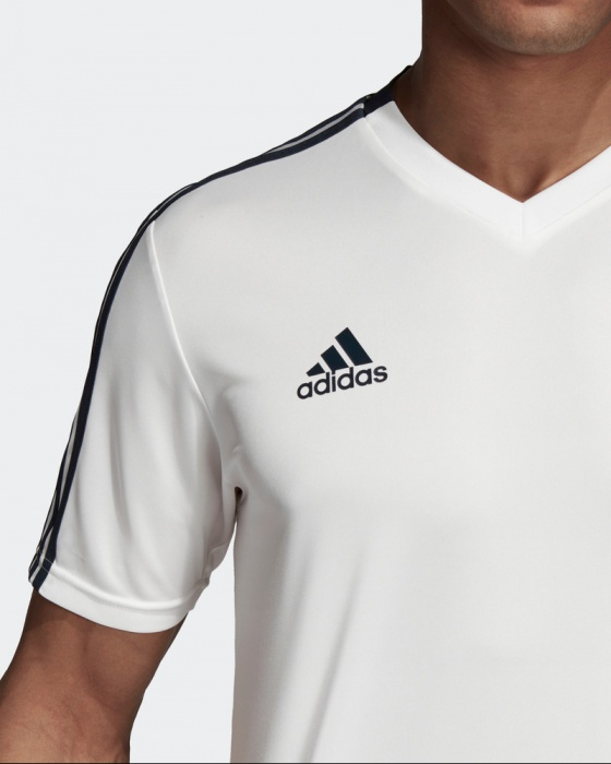 b4abdd669b2 ... Maglia Allenamento Real Madrid adidas Bianco Originale Uomo 2018 19  CLIMACOOL - Training Jersey Shirt Top ...