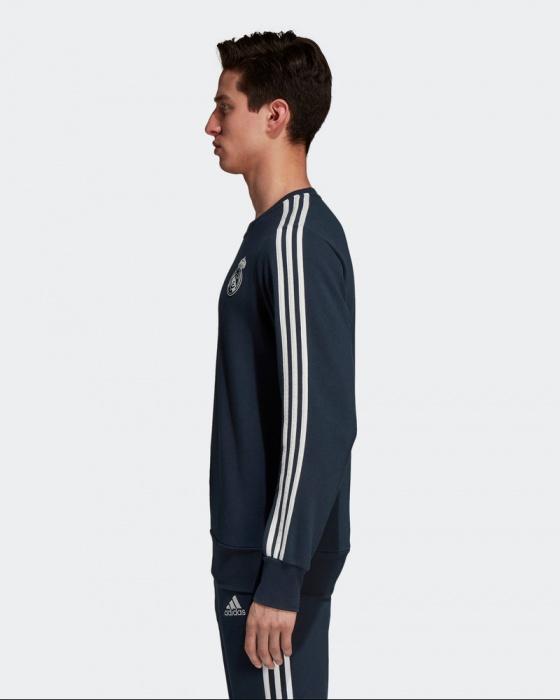 Real Madrid Adidas Sweat top Felpa Cotone Tuta Blu Uomo 2018