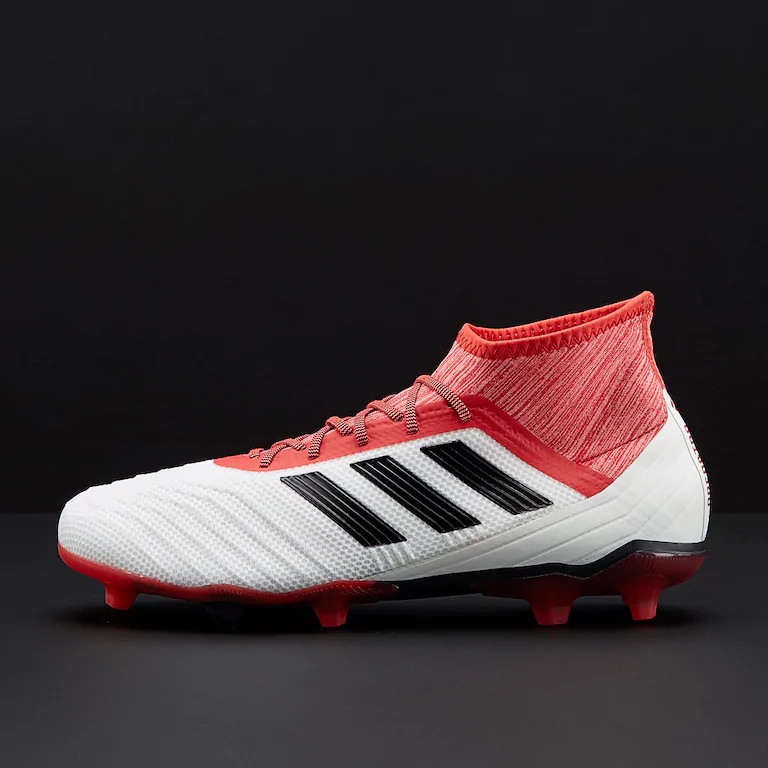 3 of 9 Football boots shoes Adidas Cleats Predator 18.2 FG Men White with  sock 917b2962f1bab