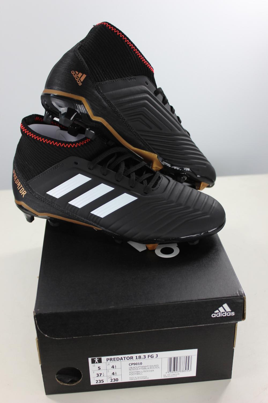 Football boots shoes Adidas Cleats 18.3 FG PREDATOR Boy 2018 Black ... 7702948d2b