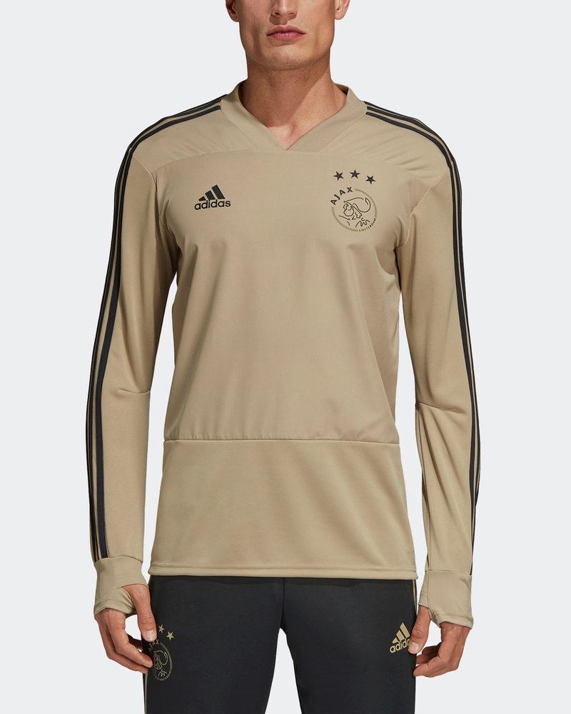 Ajax Amsterdam Adidas Felpa Allenamento Training Top oro 2018 19