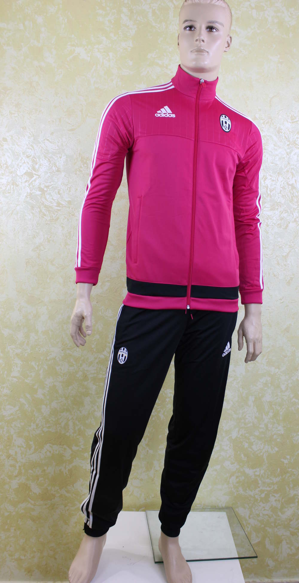 juventus turin adidas training trainingsanzug rosa 2015 16. Black Bedroom Furniture Sets. Home Design Ideas