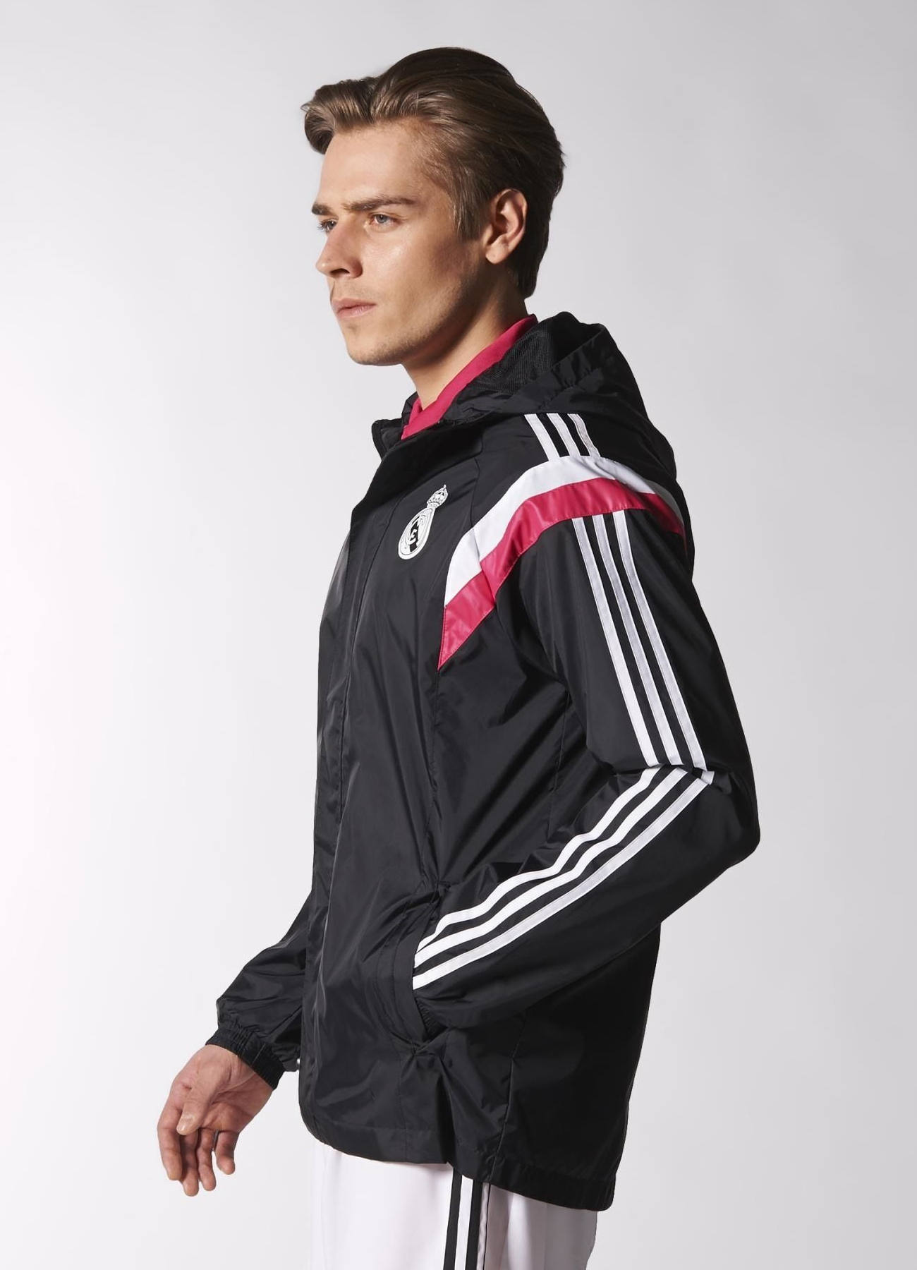 k way all weather real madrid adidas training jacke jacket 2014 15 herren ebay. Black Bedroom Furniture Sets. Home Design Ideas
