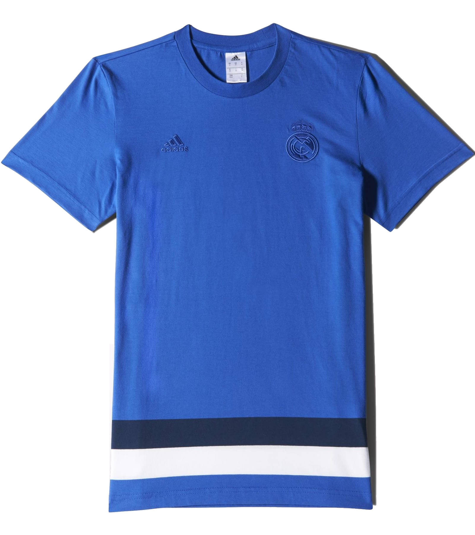 anthem tee real madrid adidas leisure t shirt men cotton 2015 blue ebay. Black Bedroom Furniture Sets. Home Design Ideas