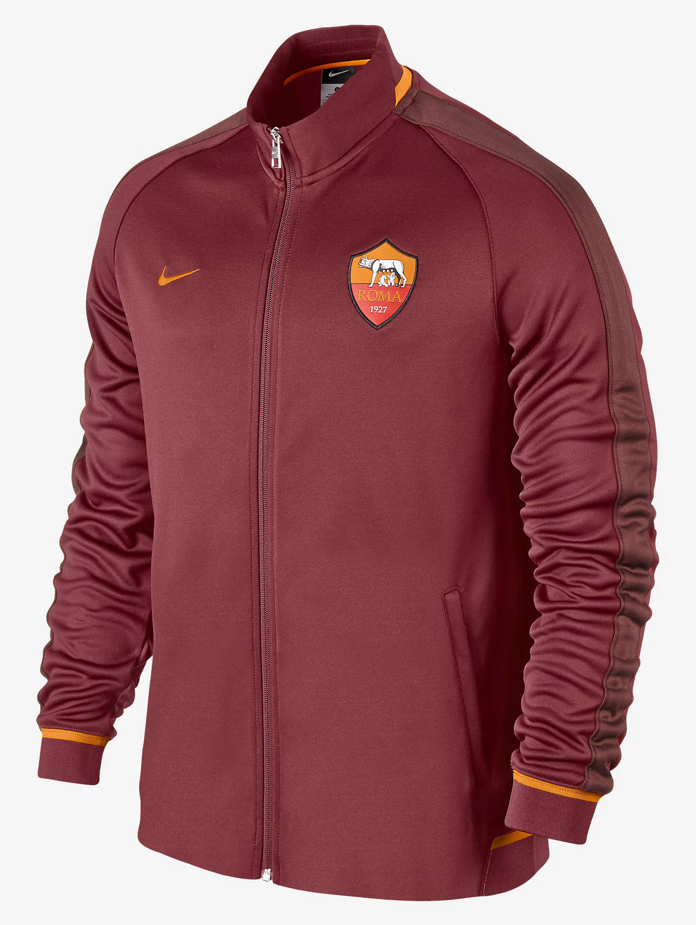 n98 authentic as roma nike training jacke jacket 2015 16 rot herren ebay. Black Bedroom Furniture Sets. Home Design Ideas