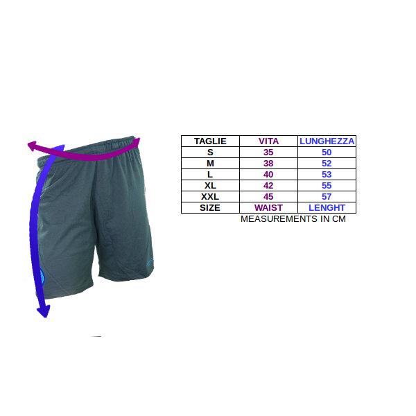 Tabella taglie e misure Pantaloncini Bermuda Allenamento Lazio  macron ufficiali uomo nero 2018 19