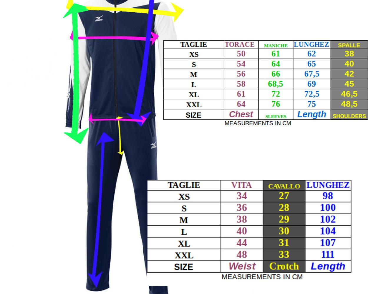 Tuta Uomo Tasche Knitted Sportiva Mizuno Blu Con qAqUfr