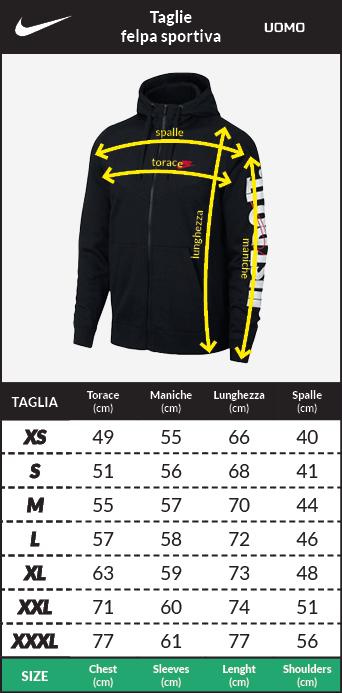 Tabella taglie e misure Felpa cappuccio Adidas Originals Trefoil Uomo 2018