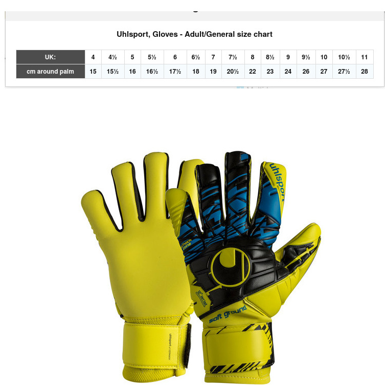 Uhlsport-Gant-de-Gardien-Keeper-Gloves-Comfort-Absolut-Grip-Noir miniature 2