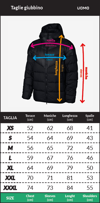 Tabella taglie e misure Bomber Piumino Giubbotto JUVENTUS FC adidas SSP LDW jacket 2020 21 Uomo Nero