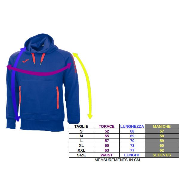Joma-Comfort-Felpa-Sportiva-cappuccio-Nero-Sportswear-lifestyle-Cotone miniatuur 2